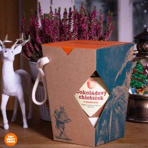 Čokochlebíček s malinami v darčekovej krabičke