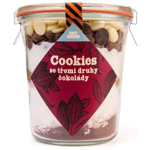 Koláčiky Cookies s troma druhmi čokolády v dóze