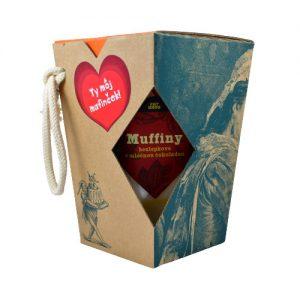 TY MOJ MAFINČEK – bezlepkové muffiny s mliečnou čokoládou v darčekovej krabičke